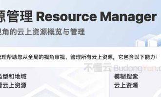阿里云资源管理Resource Manager全局视角的云上资源概览与管理